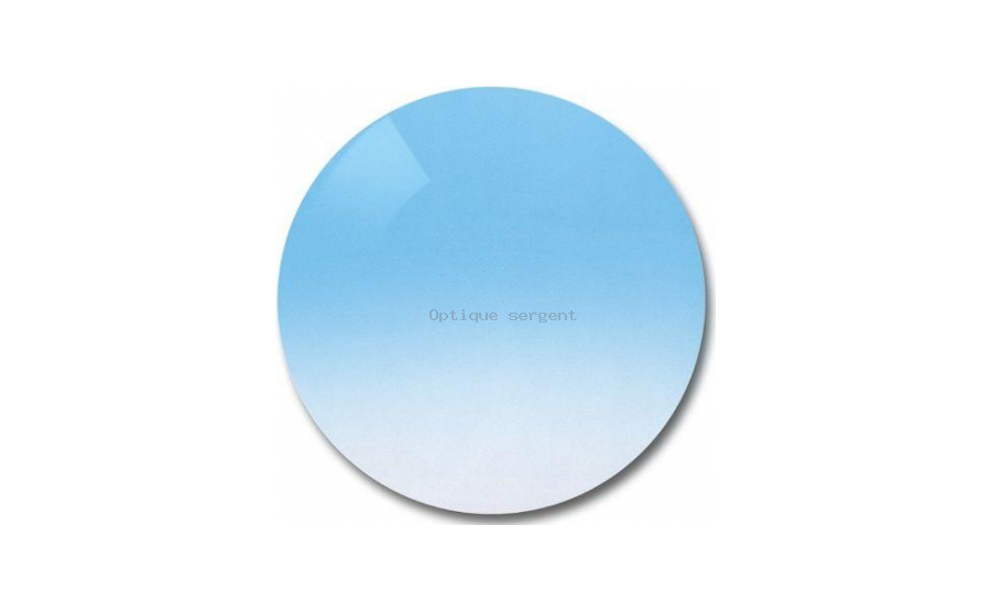 Polycarbonate clear gradient light blue
